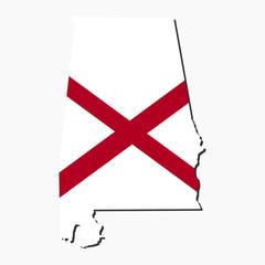 Alabama map flag