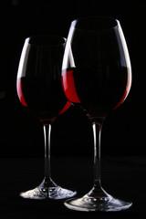 two ellegant glasses fith wine