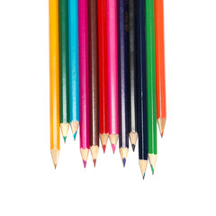 Raw of colored pencils
