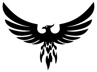 Phoenix bird wings (vector)