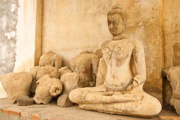 Broken Buddha statues