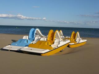 pédalos a la plage