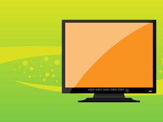 Orange Black LCD monitor