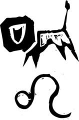 Primitive Zodiac Sign- Leo