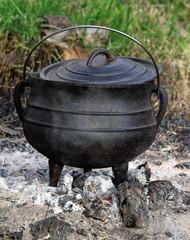 cauldron on live coals