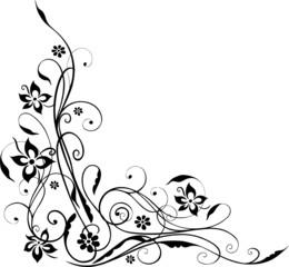 Blumen, Blumenranke, filigran, floral