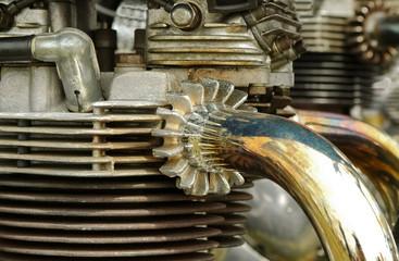 Wall Mural - vintage motorcycle engine