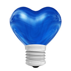 blue3D heart for holiday, Valentine`s or love theme designs