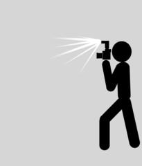 blitzender Fotograf - flashed Photograph