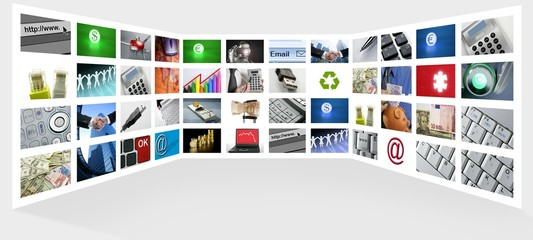 Big Panel of TV screen internet business