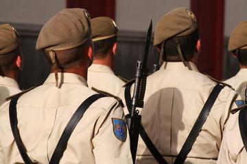 soldados del ejercito español. patriotismo fuerzas armadas