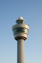 Control tower at Schiphol airport.