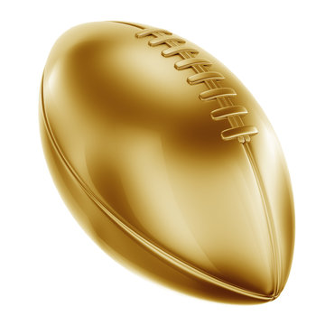 American football in gold