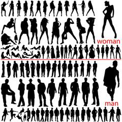 100 fashion people, woman and man