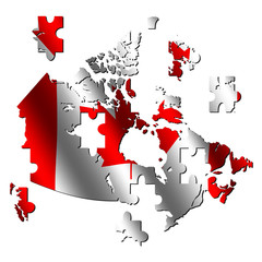 Canada map flag jigsaw
