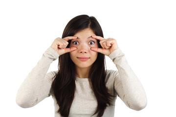 Leinwandbilder - Keep focus! Surprised woman