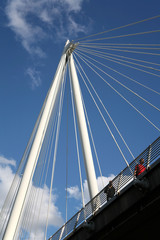 Golden jubilee pedestrian bridge London