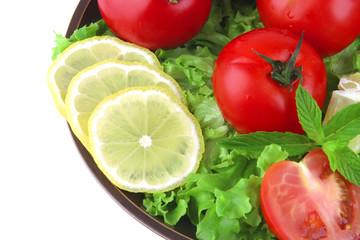 vegetable mix on dark dish