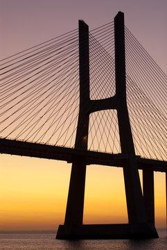 Bridge sunrise Tagus