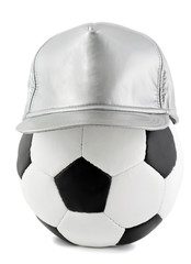 soccer ball and cap
