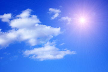 sunny sky background and clouds