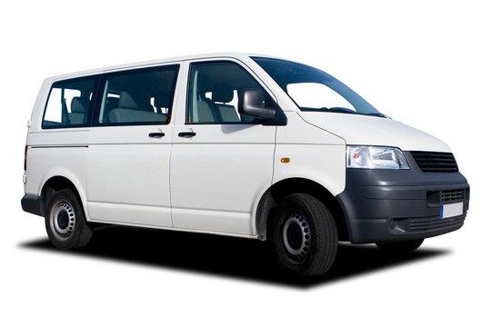 White Passenger Van