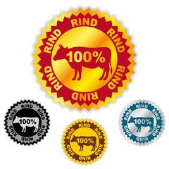 button 100% rindfleisch