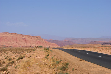 Road trough desert