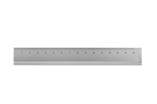 ruler isolated on white
