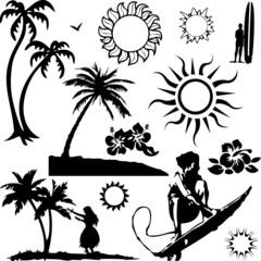 Hawaii collage (vector)