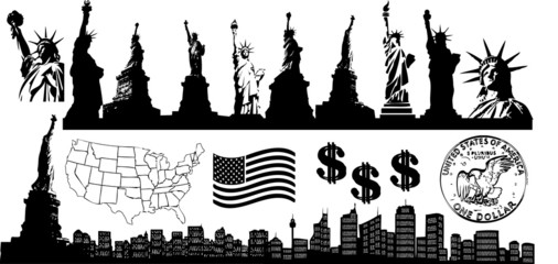 New York collage (vector)