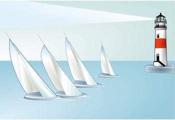 segeln leuchtturm