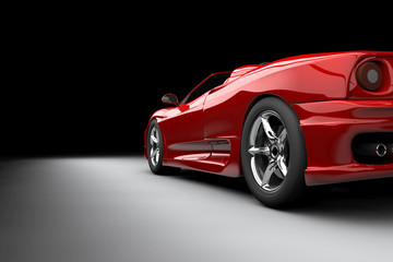 Papiers peints Rouge, noir, blanc Red car
