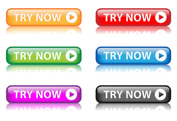 "Rectangular ""TRY NOW"" buttons (various colours) (x6)"