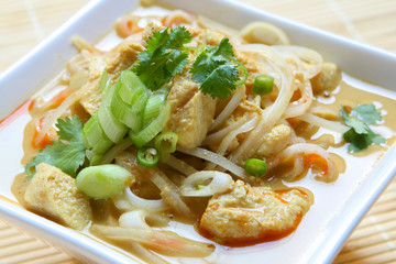 Chicken Coconut Curry Noodles (Laksa)