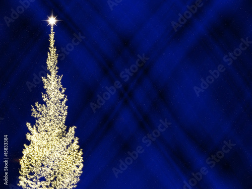 leuchtender weihnachtsbaum in blauer nacht stockfotos. Black Bedroom Furniture Sets. Home Design Ideas