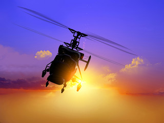 helicopter Wall mural