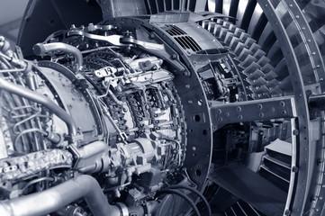 powerful jet engine detail