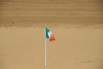 irish flag with beach