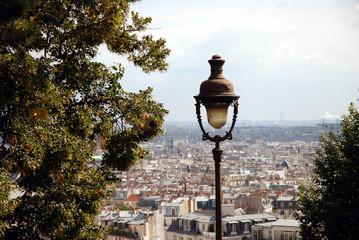 Vue sur Paris de Montmartre