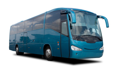 Aqua Blue Tour Bus