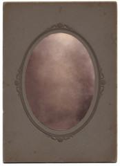 Vintage Oval Portrait, Blanked