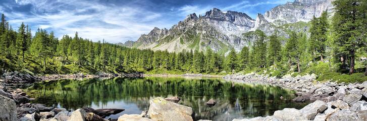 Fotorollo Reflexion Lago Nero Parco Nazionale Devero Veglia