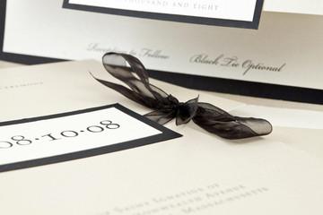Champagne Colored Wedding Invitation, Shallow Depth Of Field