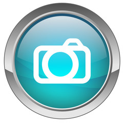 Orb button with Camera symbol (blue)