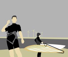 Surfer unter sich