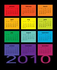 2010 Multi-Colored Calendar