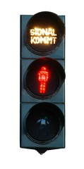 Fußgängerampel rot