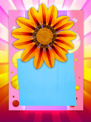Cheerful Postcard with Space for Text or Image