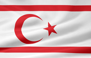 Flagge der türkischen Republik Nord Zypern